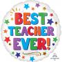 Round Misc Occasion Standard HX Best Teacher Ever! Foil Balloon 45cm