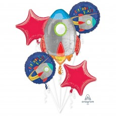 Blast Off Bouquet Standard Foil Balloons Pack of 5