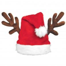Christmas Santa Hat & Antlers Head Accessory 38.1cm x 38.1cm