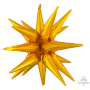 Christmas Party Decorations - Shaped Balloon Large Magic Star Gold