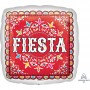 Square Mexican Fiesta Standard HX Papel Picado Fiesta FIESTA Shaped Balloon 45cm