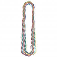 Rainbow Metallic Necklace Jewellery 76.2cm Pack of 8