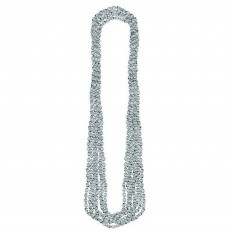 Silver Metallic Necklace Jewellery 76cm Pack of 8