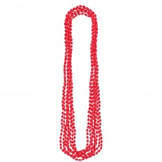 Red Metallic Necklace Jewellery 76.2cm Pack of 8