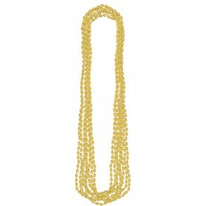 Gold Metallic Necklace Jewellery 76.2cm Pack of 8