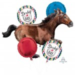 Horse Racing Party Decorations - Foil Balloons Bouquet Derby Day
