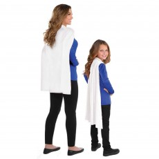 White Cape Costume Accessory One Size Fits Most