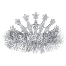 Silver Tiara 10.1cm x 12.7cm