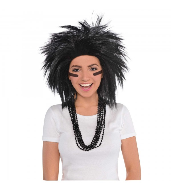 Black Crazy Wig Head Accessory Adult/Child Size