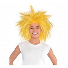 Gold Crazy Wig Head Accessory