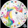Round Rainbow Unicorn Fantasy Insiders Foil Balloon 60cm