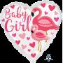 Heart Baby Shower - General Standard HX Flamingo Baby Girl Shaped Balloon 45cm