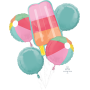 Hawaiian Party Decorations Just Chillin Bouquet Shaped Balloons