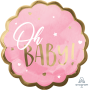 Pink Oh Baby Girl Jumbo HX Oh Baby! Shaped Balloon 55cm