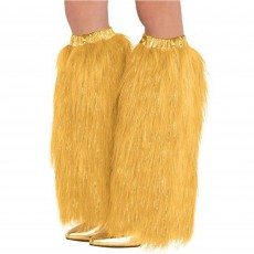 Gold Plush Leg Warmers Adult Costume One Size Fits Most