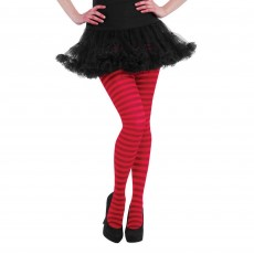 Red Striped Tights Adult Costume