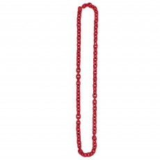 Red Chain Link Necklace Jewellery 121.9cm