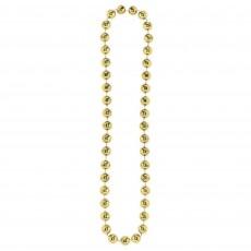 Gold Jumbo Ball Bead Necklace Jewellery 116.8cm