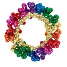Rainbow Bead Bracelet Jewellery 7.6cm