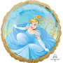 Round Disney Princess Once Upon A Time Standard HX Cinderella Foil Balloon 45cm