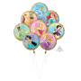Disney Princess Once Upon A Time Bouquet Foil Balloons 45cm Pack of 8