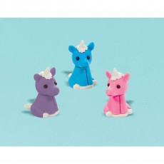Unicorn Fantasy Party Supplies - Favours Unicorn Erasers