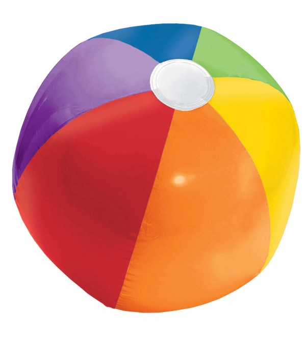 Rainbow Hawaiian Inflatable Beach Ball Shaped Balloon 33cm