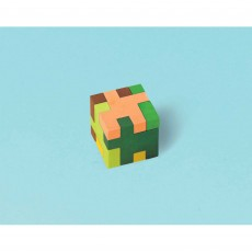 Minecraft TNT Puzzle Cube Mini Eraser Favours 2.8cm Pack of 12