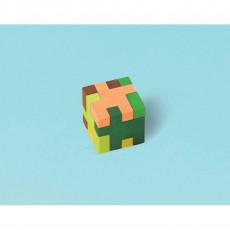 Minecraft TNT Puzzle Cube Mini Eraser Favours 2.8cm Pack of 12