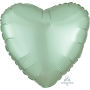 Heart Satin Luxe Mint Green Standard HX Shaped Balloon 45cm