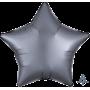 Star Satin Luxe Graphite Silver Standard XL Shaped Balloon 45cm