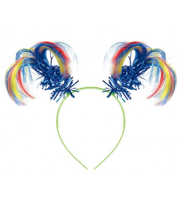 Rainbow Costume Accessories Ponytail Look Headbopper
