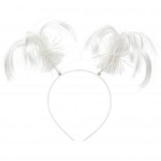 White Headbopper Ponytail Head Accessory 20.3cm x 12.7cm