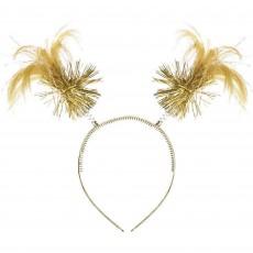 Gold Ponytail Headbopper Head Accessory 20.3cm x 12.7cm