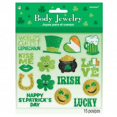 St Patrick's day Body Jewellery Pack of 15