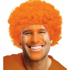 Orange Party Supplies - Curly Wig