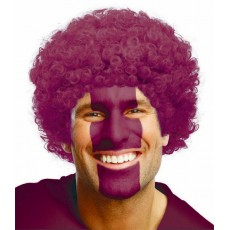 State of Origin Party Supplies - Curly Wig Burgundy