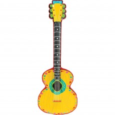 Mexican Fiesta Inflatable Mariachi Guitar Shaped Balloon 96cm