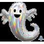 Iridescent Halloween SuperShape Holographic Ghost Shaped Balloon 63cm x 71cm