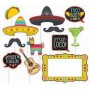 Mexican Fiesta Deluxe Jumbo Photo Props Pack of 12