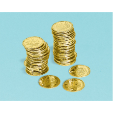 Gold Pirate's Treasure Coin Favours 3.5cm Pack of 72