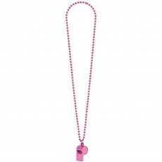 Pink Whistle On Chain Necklace Jewellery 91.4cm
