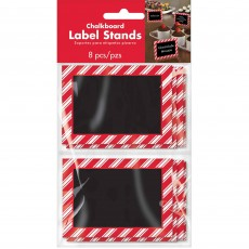 Christmas Chalkboard Label Stands Place Cards Misc Accessories 6cm x 8cm Pack of 8