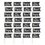 Black Flag Party Picks 4cm x 7cm Pack of 36