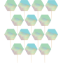 Iridescent Shimmering Party Party Picks 8cm Pack of 24