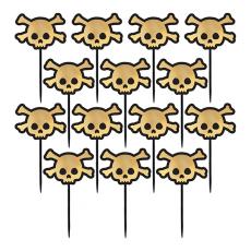 Halloween Skull Party Picks Pack of 36
