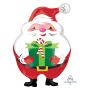 Christmas Party Decorations - Shaped Balloon Jovial Santa & Present