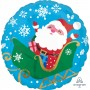 Christmas Party Decorations - Foil Balloon Happy Santa in Sleigh