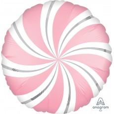 Bubble Gum Christmas Standard XL Candy Cane Swirls Foil Balloon 45cm