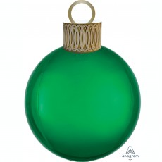 Christmas Party Decorations - Shaped Balloon Orbz & Ornament Kit Green